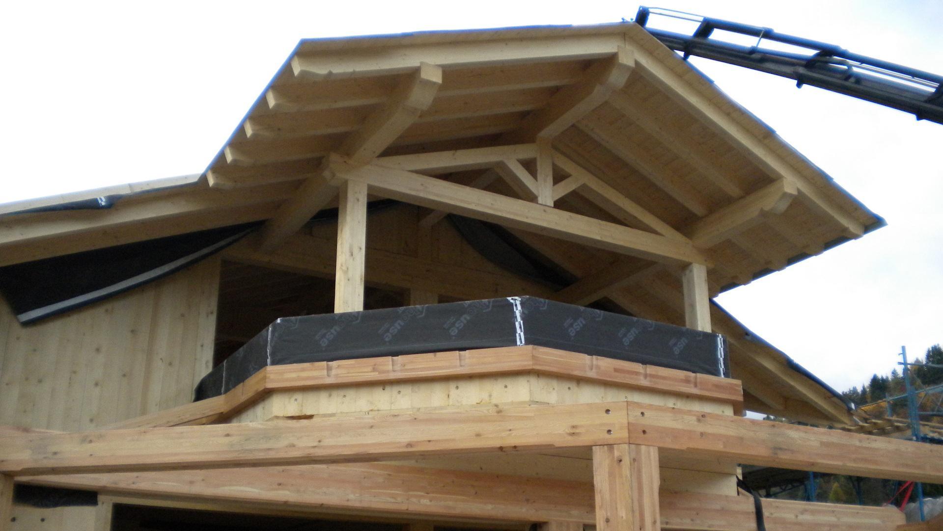 la struttura in legno dell edificio
