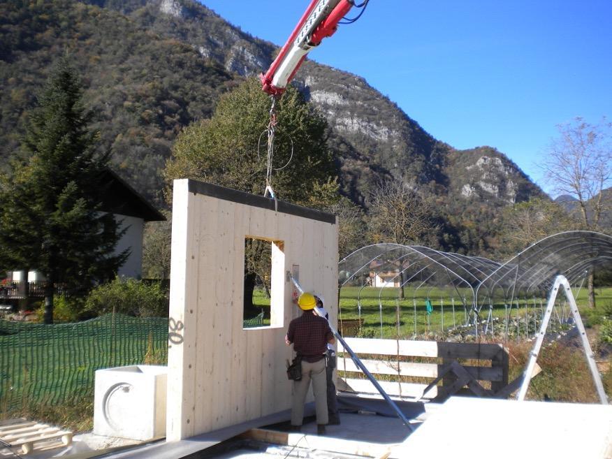 solidha noi lavoriamo così, parete legno massiccio